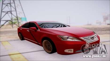 Lexus ES350 2010 pour GTA San Andreas vue intérieure