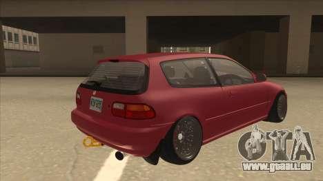 Honda Civic EG6 Camber pour GTA San Andreas vue de droite