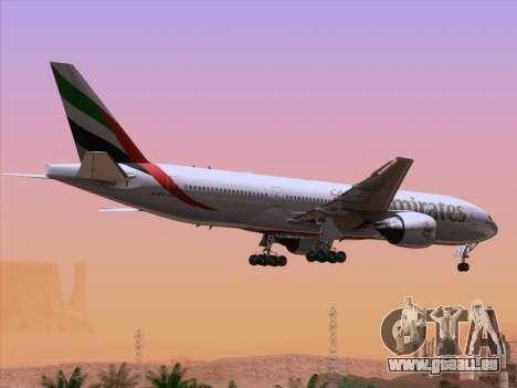 Boeing 777-21HLR Emirates pour GTA San Andreas moteur