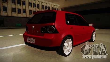 VW Golf GTI 2008 pour GTA San Andreas vue de droite