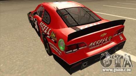 Chevrolet SS NASCAR No. 36 Accell für GTA San Andreas Rückansicht