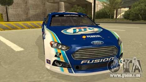 Ford Fusion NASCAR No. 2 Miller Lite pour GTA San Andreas laissé vue