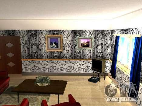 Innen 2-stöckige Neubau CJ für GTA San Andreas dritten Screenshot