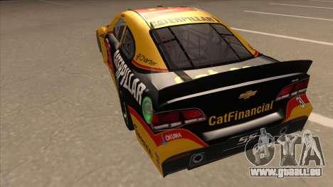 Chevrolet SS NASCAR No. 31 Caterpillar für GTA San Andreas Rückansicht