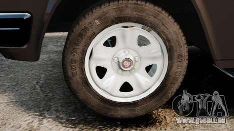 GAZ 3110 Pickup für GTA 4 Rückansicht