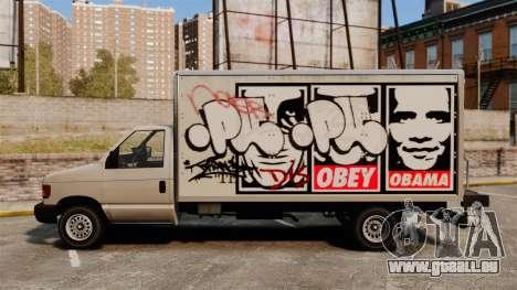 Nouveau graffiti pour Steed pour GTA 4 Vue arrière de la gauche