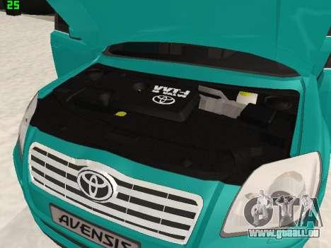 Toyota Avensis 2.0 16v VVT-i D4 Executive pour GTA San Andreas vue arrière
