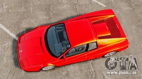 Ferrari Testarossa 1986 für GTA 4 rechte Ansicht
