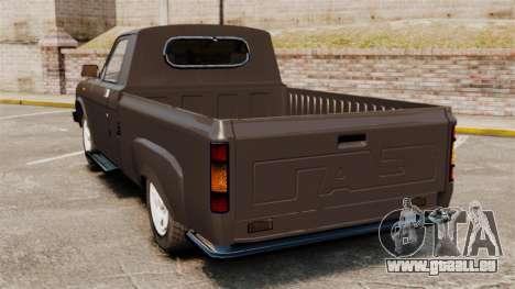 GAZ 3110 Pickup für GTA 4 hinten links Ansicht