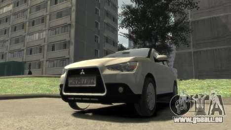 Mitsubishi ASX 2010 für GTA 4 Rückansicht