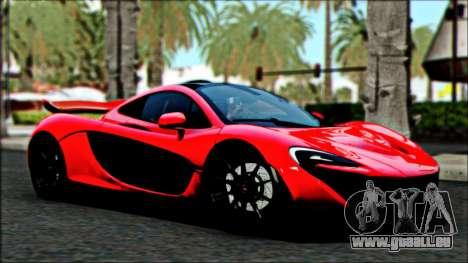 McLaren P1 2014 für GTA San Andreas Rückansicht