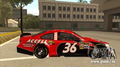 Chevrolet SS NASCAR No. 36 Accell für GTA San Andreas zurück linke Ansicht