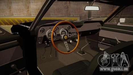 Shelby Mustang GT500 Eleanor Police für GTA San Andreas Innenansicht