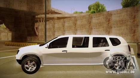 Dacia Duster Limuzina pour GTA San Andreas sur la vue arrière gauche