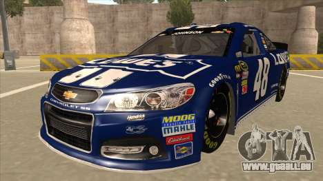 Chevrolet SS NASCAR No. 48 Lowes blue pour GTA San Andreas