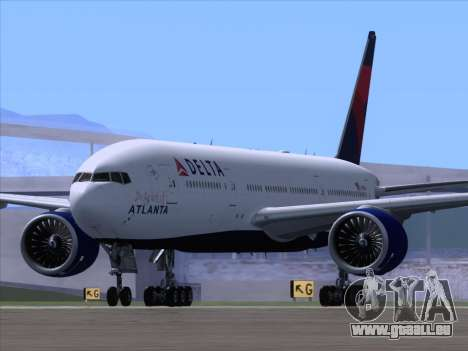 Boeing 777-200ER Delta Air Lines pour GTA San Andreas vue de droite