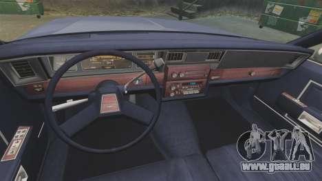 Chevrolet Caprice 1986 pour GTA 4 Vue arrière