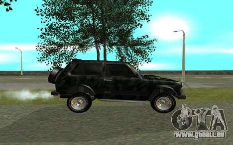 VAZ 21213 pour GTA San Andreas laissé vue
