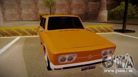 VW Variant 1972 pour GTA San Andreas laissé vue