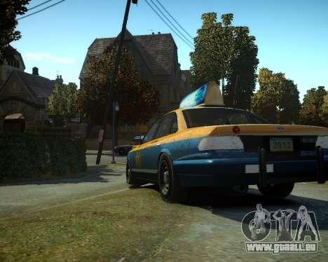 GTA V Taxi für GTA 4 hinten links Ansicht