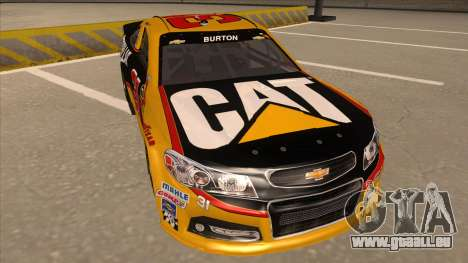 Chevrolet SS NASCAR No. 31 Caterpillar für GTA San Andreas linke Ansicht