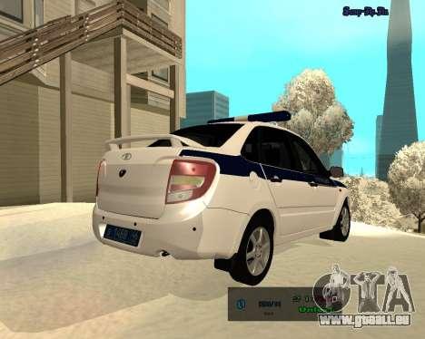 Lada Granta 2190 Polizei V 2.0 für GTA San Andreas rechten Ansicht