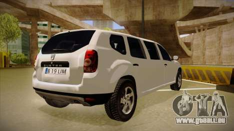 Dacia Duster Limuzina pour GTA San Andreas vue de droite