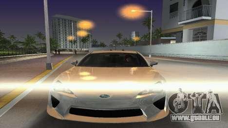Subaru BRZ Type 2 pour GTA Vice City vue arrière