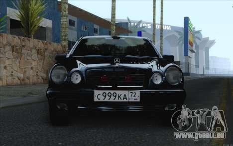 Mercedes-Benz E420 pour GTA San Andreas sur la vue arrière gauche