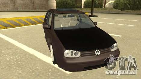 VW Golf 4 Tuned pour GTA San Andreas laissé vue