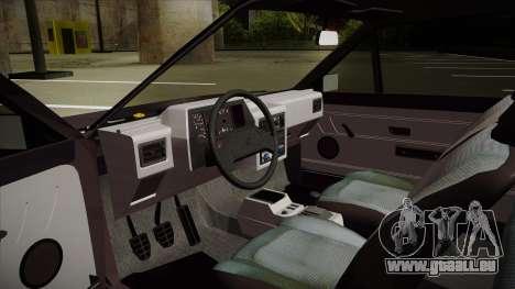 Volkswagen Gol pour GTA San Andreas vue arrière