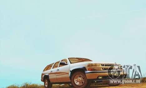 Chevrolet Suburban SAPD FBI pour GTA San Andreas laissé vue