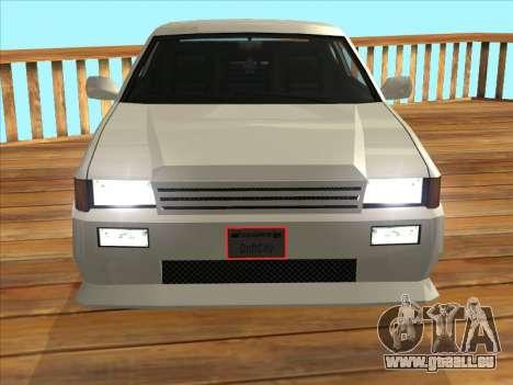 Blista Compact pour GTA San Andreas sur la vue arrière gauche