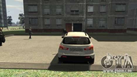 Mitsubishi ASX 2010 pour GTA 4 Vue arrière de la gauche
