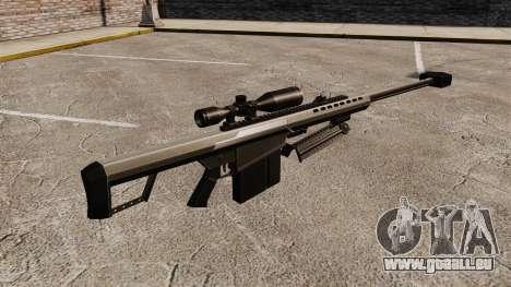 Le Barrett M82 sniper rifle v1 pour GTA 4 secondes d'écran