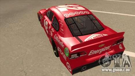 Chevrolet SS NASCAR No. 42 Clorox für GTA San Andreas Rückansicht