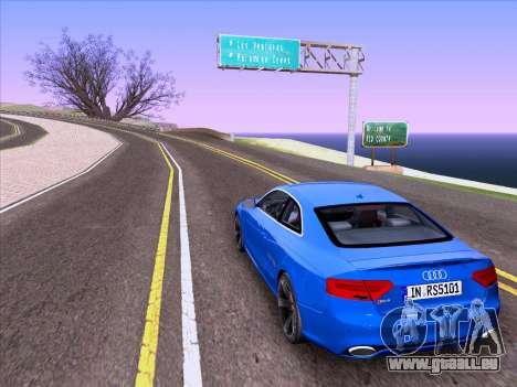 Audi RS5 2012 pour GTA San Andreas laissé vue
