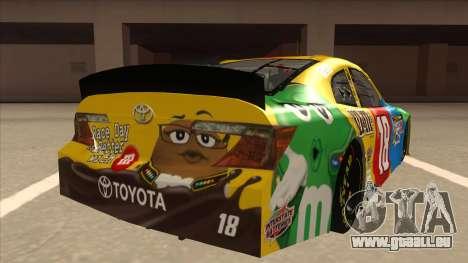 Toyota Camry NASCAR No. 18 MandMs für GTA San Andreas rechten Ansicht