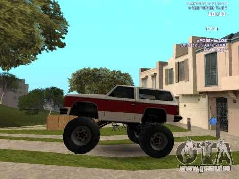 Rancher Monster pour GTA San Andreas laissé vue