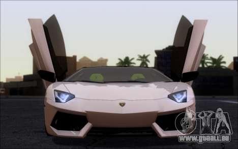 Lamborghini Aventador LP760-2 EU Plate für GTA San Andreas zurück linke Ansicht