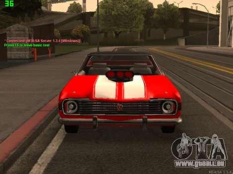 GAZ El Camino SS pour GTA San Andreas vue arrière