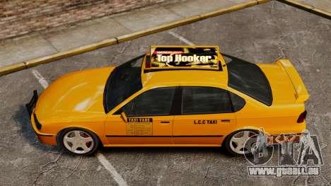 Taxi2 avec de nouveaux disques pour GTA 4 Vue arrière de la gauche