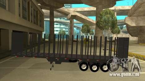 Auflieger zum Mercedes-Benz LS 2638 für GTA San Andreas linke Ansicht