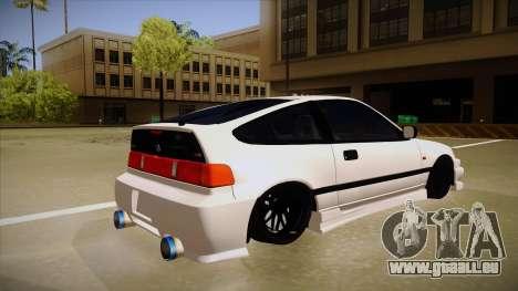 Honda CRX JDM Style pour GTA San Andreas vue de droite