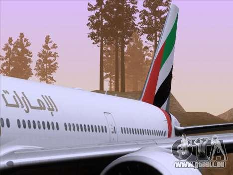 Boeing 777-21HLR Emirates pour GTA San Andreas salon