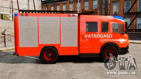 Mercedes-Benz Atego Koprivnica Fire Dept. [ELS] pour GTA 4 est une gauche