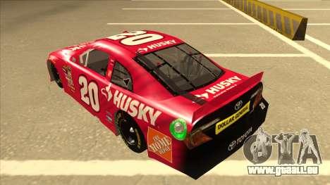 Toyota Camry NASCAR No. 20 Husky pour GTA San Andreas vue arrière