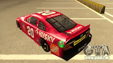 Toyota Camry NASCAR No. 20 Husky für GTA San Andreas Rückansicht