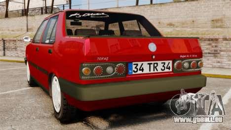 Tofas Dogan SL-X pour GTA 4 Vue arrière de la gauche