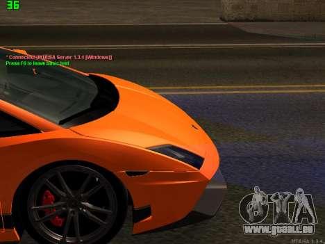 Lamborghini Gallardo LP560-4 SL UGR Altecho pour GTA San Andreas vue intérieure